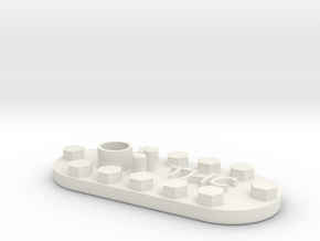 1/10 SCALE FUEL LID INSERT in White Strong & Flexible