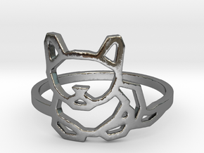 Petite Cat Ring in Polished Silver: 6 / 51.5