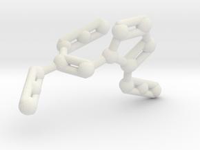 Azidoazide Azide Molecule Necklace in White Natural Versatile Plastic