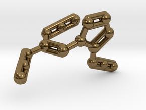 Azidoazide Azide Molecule Necklace in Polished Bronze