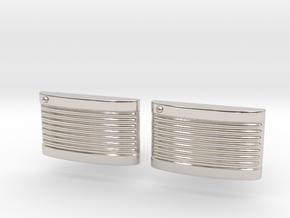 Retro Cufflinks in Rhodium Plated Brass