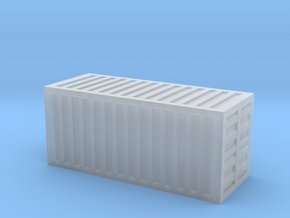 20 Foot Container (1:200 scale, hollow) in Smooth Fine Detail Plastic