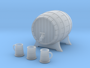 Miniature Barrel and Tankard Set in Smooth Fine Detail Plastic