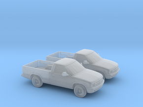 1/160 2X 1994-97 Chevrolet S 10 Single Cab in Frosted Ultra Detail