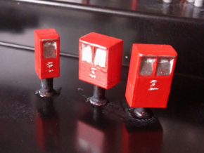 Post Boxes (three sizes), N-scale in Frosted Ultra Detail