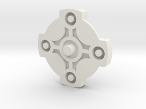Directional GBA SP Button in White Natural Versatile Plastic