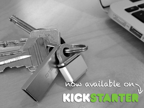 KeyBit - MagSafe Adapter Key Ring (beta) in Polished Bronzed Silver Steel