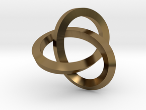 Knotted Mobius Band (Lg) in Polished Bronze
