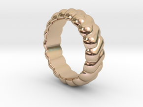 Harmony Ring 16 - Italian Size 16 in 14k Rose Gold Plated Brass