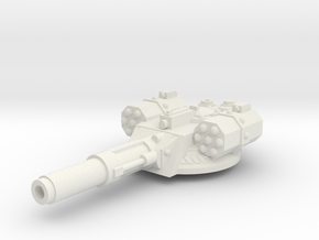 Irontank Medium Turret in White Natural Versatile Plastic