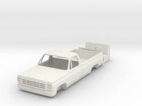 1/64 1970's Chevy K10 Pickup Truck in White Strong & Flexible