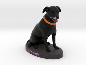Custom Dog Figurine - Audrey in Full Color Sandstone