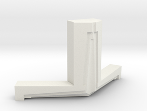 2015071005DWStemenWedgeFlangeFlat1000 in White Natural Versatile Plastic