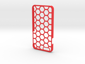 iPhone 6/6s Case - Hexagon Design in Red Strong & Flexible Polished
