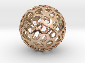 Voronoi Sphere in 14k Rose Gold Plated Brass