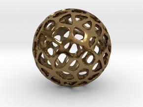 Voronoi Sphere in Polished Bronze