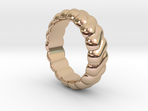 Harmony Ring 22 - Italian Size 22 in 14k Rose Gold Plated Brass