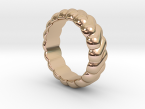 Harmony Ring 26 - Italian Size 26 in 14k Rose Gold Plated Brass