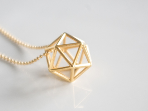 Icosahedron pendant in 18k Gold Plated