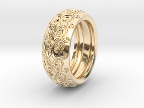 Sharon Ray - Tire Ring in 14k Gold Plated Brass: 9 / 59