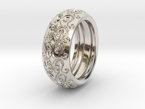 Sharon Ray - Tire Ring in Rhodium Plated Brass: 9 / 59