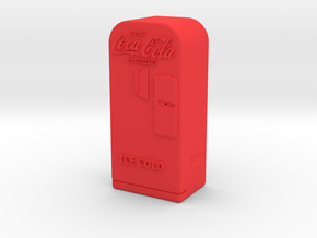 Coke Machine - Qty (1) HO 87:1 Scale in Red Processed Versatile Plastic