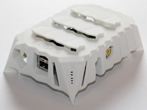Edges Raspberry Pi Case in White Natural Versatile Plastic