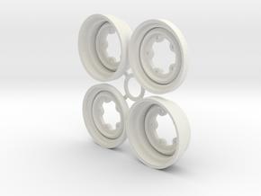 SRB VW style Wheels 1.5 in White Natural Versatile Plastic