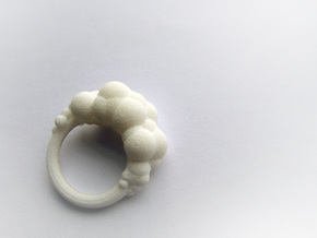 Cloud Ring size 6  in White Natural Versatile Plastic