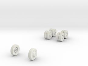 wheels (repaired) in White Natural Versatile Plastic