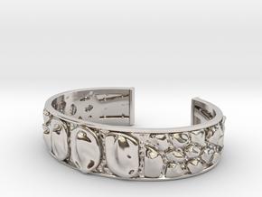 Dragon Hide 16 cm bracelet in Rhodium Plated Brass