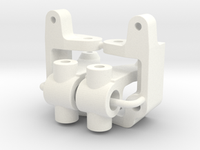 '91 Worlds Conversion - Caster and Steering Blocks in White Processed Versatile Plastic