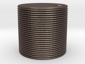 1000 gallon watertank (HO) in Polished Bronzed Silver Steel