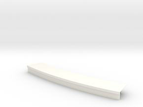Curved platform 15cm in White Strong & Flexible Polished