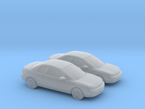 1/160 2X 1995 Dodge Neon Coupe in Smooth Fine Detail Plastic