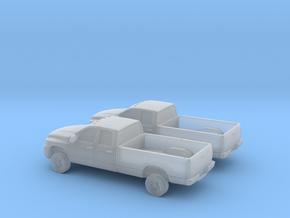 1/160 2X 2006 Dodge Ram Crew Cab in Smooth Fine Detail Plastic