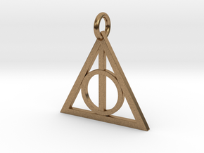 Deathly Hallows Triangle Pendant in Natural Brass