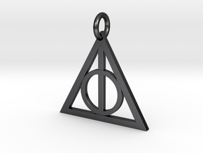 Deathly Hallows Triangle Pendant in Polished and Bronzed Black Steel