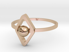 Yumi collection - size 6 US in 14k Rose Gold Plated Brass