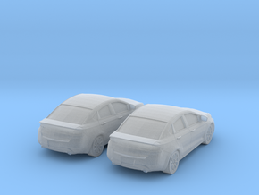 1/160 2X 2013 Dodge Dart in Smooth Fine Detail Plastic