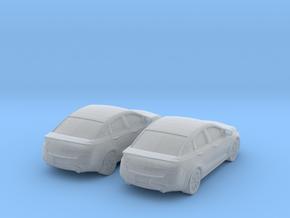 1/160 2X 2013 Dodge Dart in Smooth Fine Detail Plastic