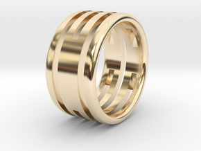 Back to basic collection - size 6US in 14k Gold Plated Brass