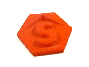 Slip Token, Star Fleet Battles in Orange Processed Versatile Plastic