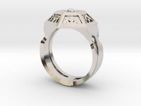 Ring of Royal Grandeur (21mm) in Rhodium Plated Brass