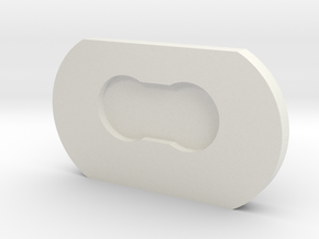 TheArtifexCo-Case Slider Cap V2 in White Natural Versatile Plastic