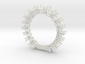 Fedina Pietre20stl in White Natural Versatile Plastic