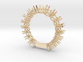 Fedina 17 stones Italian style in 14K Yellow Gold