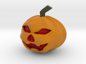 Halloween Hollowed Figurine: Evil Pumpking in Full Color Sandstone
