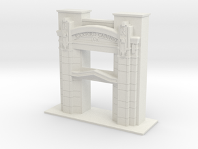 1/48 SCALE ROCKFORD CABINET COMPANY ENTRY in White Natural Versatile Plastic