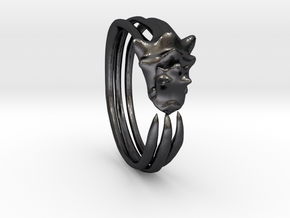 Phneergeoboros Bracelet in Polished and Bronzed Black Steel